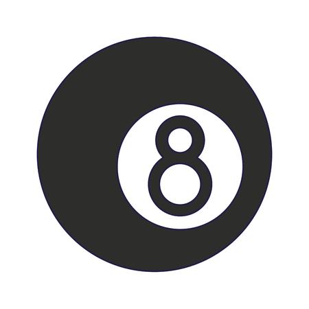 Pool acht Ball Cartoon isoliert Design