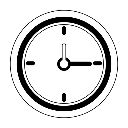 Wall clock isolated symbol Designe