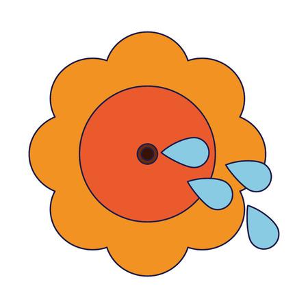Joke flower with water shoot Designe Illustration