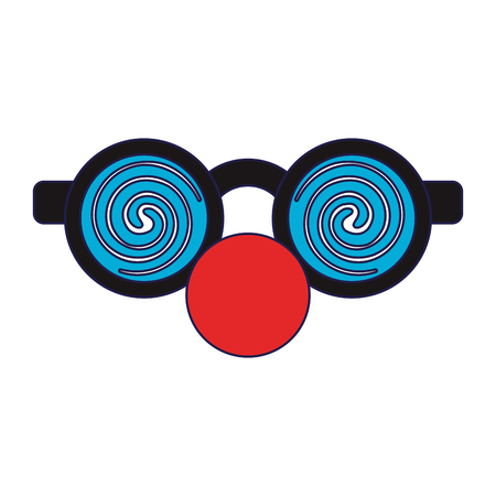 Glasses with clown nose cartoon isolated Designe Illustration