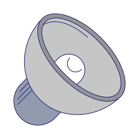 Bullhorn volume symbol isolated vector illustration graphic design Stock Vector - 124288917