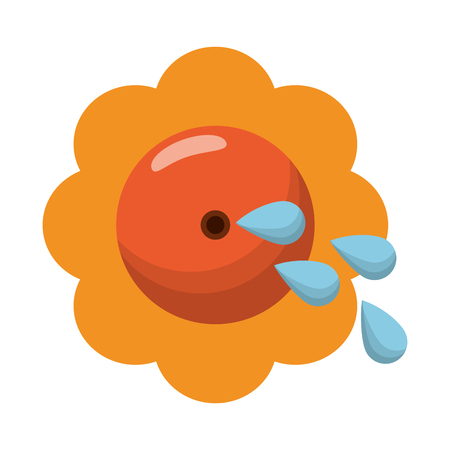 Joke flower with water shoot cartoon