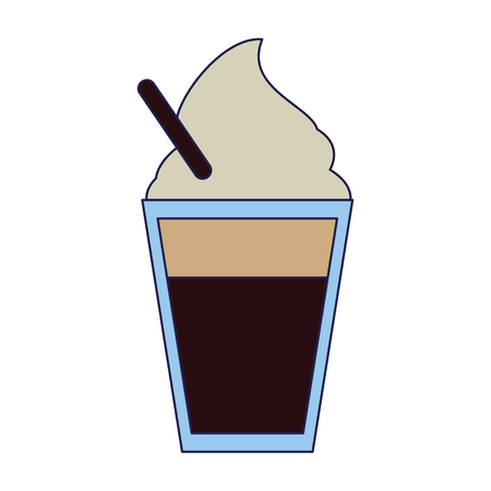 Capuccino with cream cup vector illustration graphic design