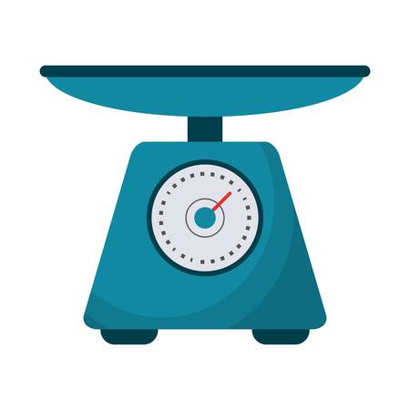 Food scale balance symbol vector illustration graphic design