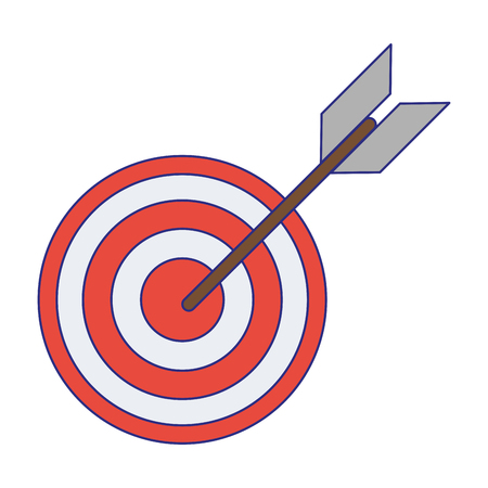 Diseño gráfico del ejemplo del vector aislado del símbolo de la diana de destino