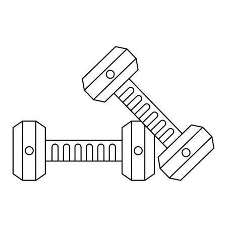 Dumbbells gym equipment isolated vector illustration graphic design