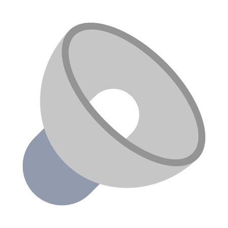 Bullhorn volume symbol isolated vector illustration graphic design Stock Vector - 124184989