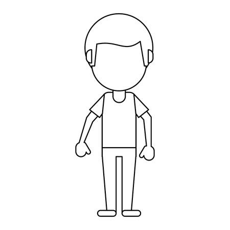 man afro faceless avatar cartoon vector illustration graphic design Illustration