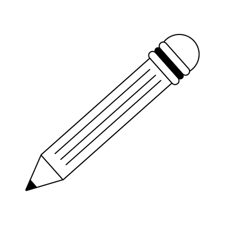 Pencil drawing symbol isolated vector illustration graphic design
