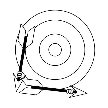 Diana de destino con diseño gráfico del ejemplo del vector del símbolo de la flecha