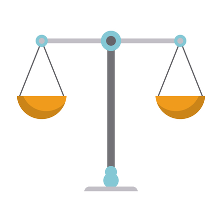 Justice balance symbol isolated vector illustration graphic design 向量圖像