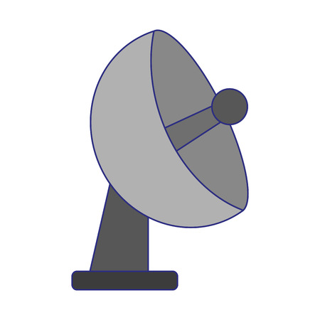 Telecommunication antenna symbol isolated vector illustration graphic design Stock Vector - 124168486