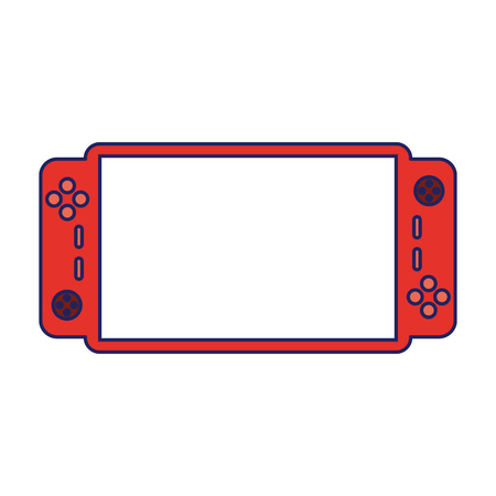 Videogame console portable technology icon ilustration vector