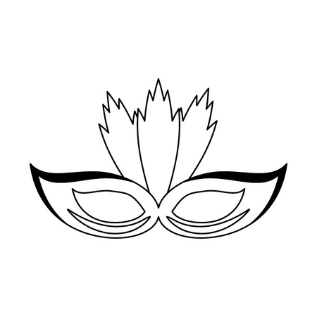 Party mask with feathers Designe