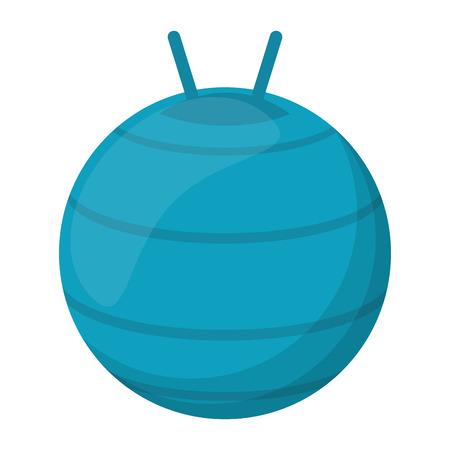 Fitness ball equipment isolated vector illustration graphic design