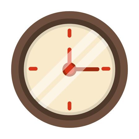 Wall clock isolated symbol cartoon