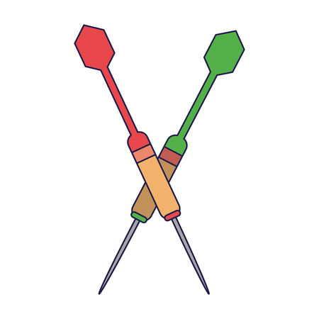 Sport bow arrows symbol isolated Designe