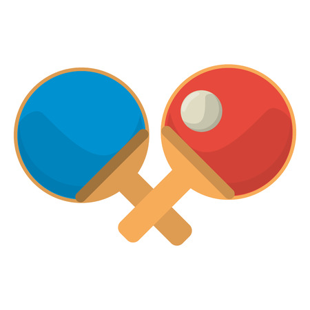 Ping pong rackets with ball cartoon