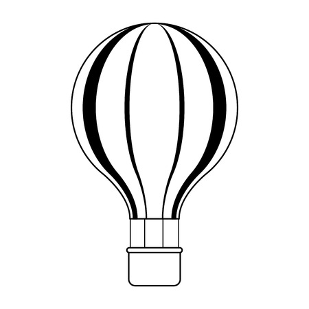 Hot air balloon symbol vector illustration graphic design