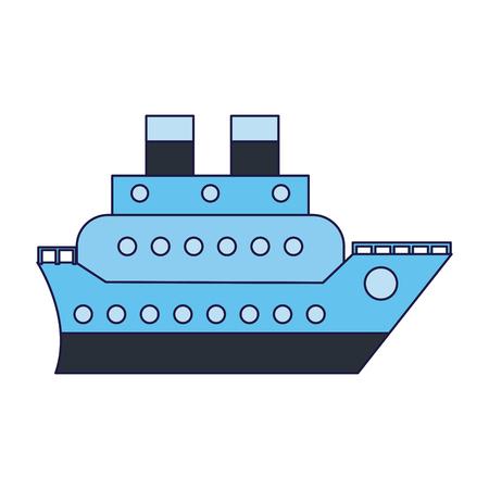 Cruise ship boat symbol vector illustration graphic design vector illustration graphic design Illustration