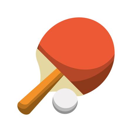 tennis table racket and ball sport cartoon vector illustration graphic design Illustration