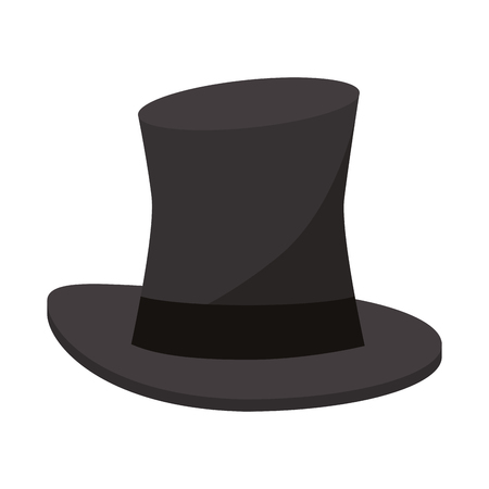 Magician hat cartoon isolated vector illustration graphic design Vectores