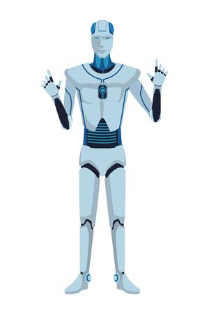humanoid robot avatar cartoon character vector illustration graphic design