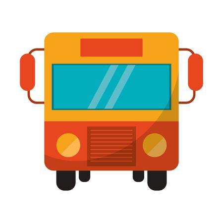 Diseño gráfico del ejemplo del vector del símbolo de la vista delantera del autobús público Ilustración de vector