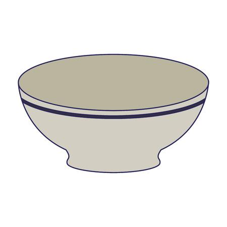 Diseño gráfico del ejemplo del vector de la historieta del cuenco del plato vacío Ilustración de vector
