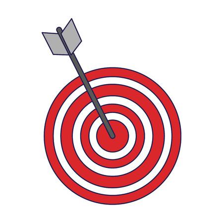 Target dartboard goal symbol vector illustration graphic design