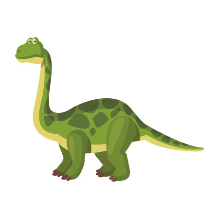 Brontosaurus dinosaur cartoon isolated vector illustration graphic design