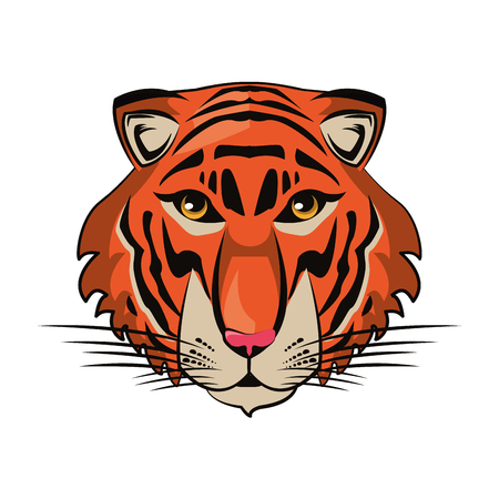 Tiger face cool sketch vector illustration graphic design Stock Illustratie