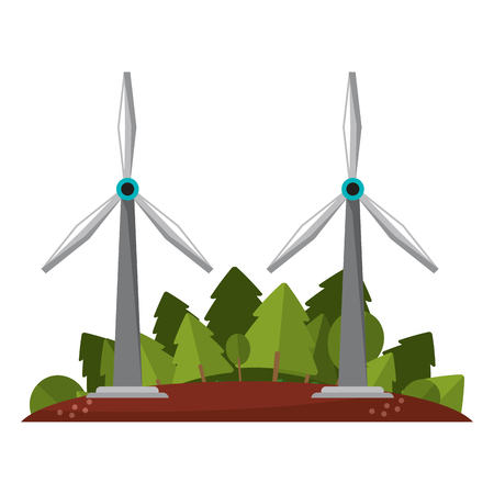Green and renewable energy symbols vector illustration graphic design
