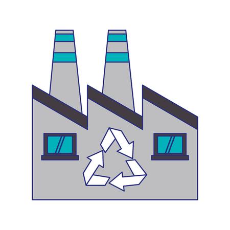 L'énergie verte d'usine recycler le symbole de la conception graphique d'illustration vectorielle Vecteurs