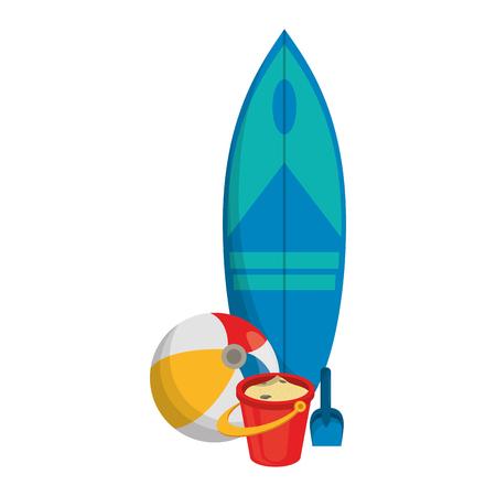 Conception graphique d'illustration vectorielle de dessin animé de voyage d'été et de plage