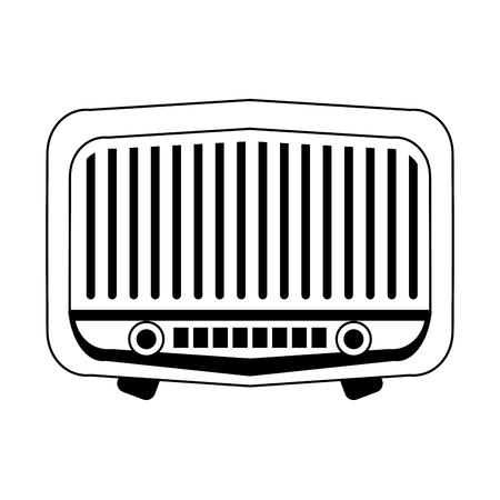 vintage ol radio stereo symbol vector illustration graphic design Ilustração