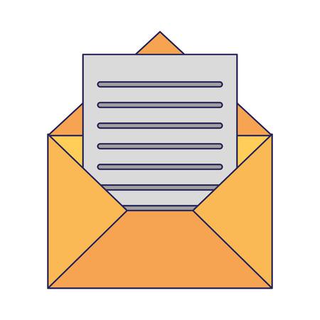 Enveloppe avec la conception graphique d'illustration de vecteur de symbole de lettre