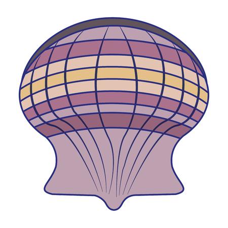 Sea shell symbol cartoon vector illustration graphic design Illusztráció