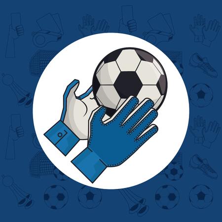 Soccer sport game equipment cartoons vector illustration graphic design