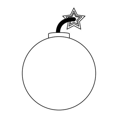 Bomb explosive round symbol vector illustration graphic design Ilustración de vector
