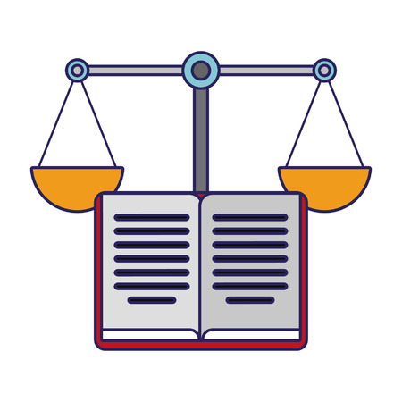 Book open and justice balance symbol vector illustration graphic design Stock Illustratie