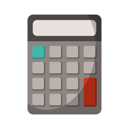 Calculator math device isolated cartoon
