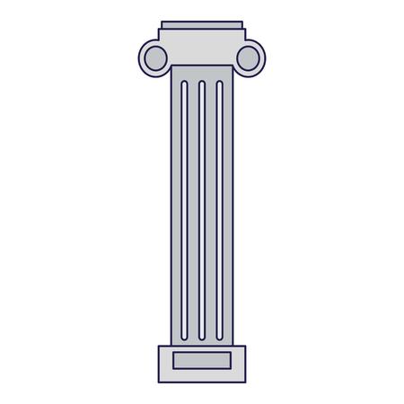 Architecte de la colonne grecque building vector illustration graphic design