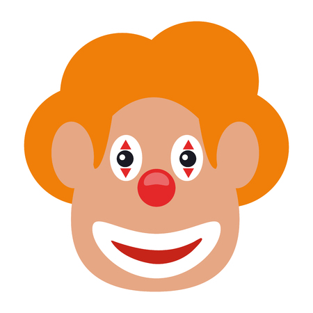 Clown face smiling with make up