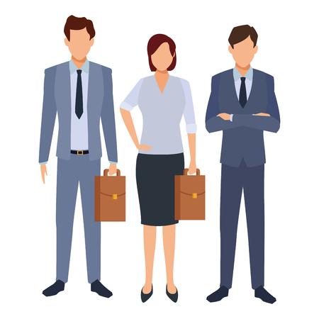 Compañeros de trabajo ejecutivos de negocios dibujos animados ilustración vectorial diseño gráfico