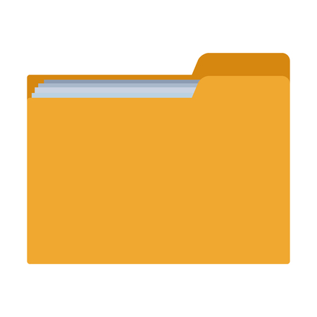 documents folder icon isolated vector illustration graphic design