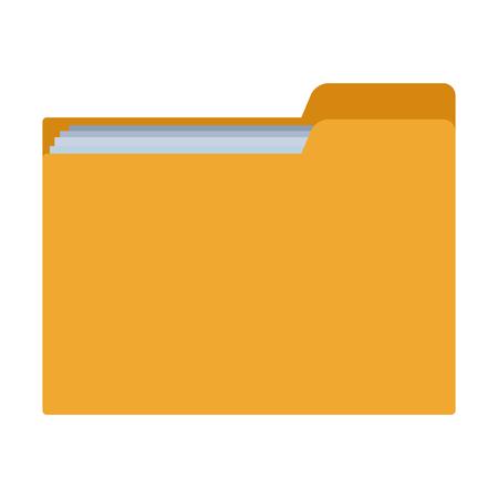 documents folder icon isolated vector illustration graphic design