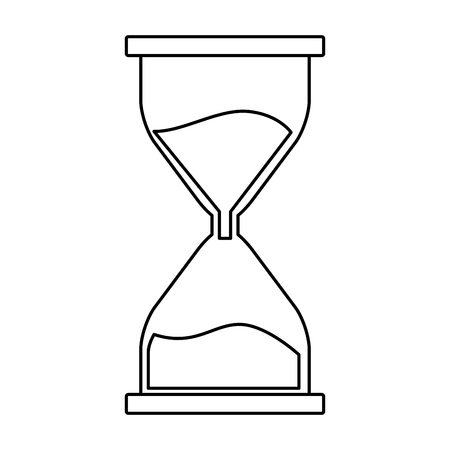 hourglass icon isolated black and white vector illustration graphic design
