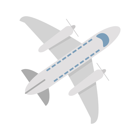 Airplane jet symbol topview vector illustration graphic design Vectores