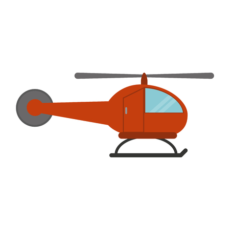Helicopter aircraft symbol sideview vector illustration graphic design